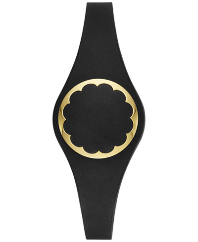 kate spade new york Women's Black Scallop Activity Tracker 26mm KSA31203