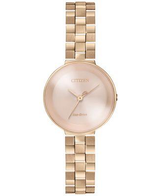 Citizen Women's Silhouette Rose Gold-Tone Stainless Steel Bracelet Watch 25mm EW5503-83X
