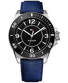Tommy Hilfiger Men's Table Blue Nylon Strap Watch 45mm 1791285