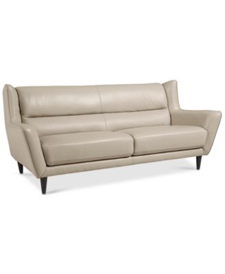 Delena Leather Sofa, Created for Macy's Furniture Macy's