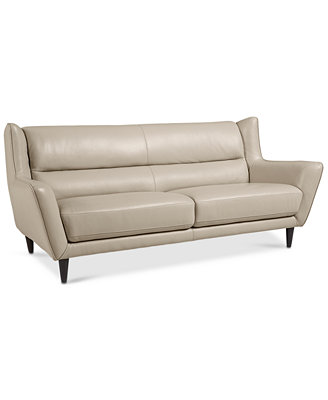 Delena Leather Sofa ly at Macy s Furniture Macy s