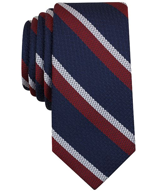 Bar III Men's Denton Stripe Slim Tie, Created for Macy's