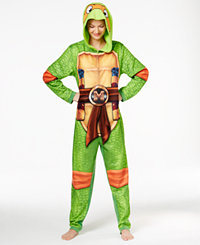 Briefly Stated Ninja Turtle Hooded Jumpsuit (Michelangelo Ninja Turtle)