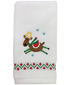 "CLOSEOUT! Dena Flying Reindeer 11"" x 18"" Fingertip Towel"