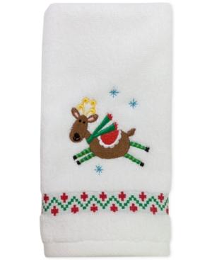 "Image of Dena Flying Reindeer 27"" x 50"" Bath Towel Bedding"