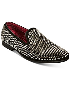 Men's Caviar Rhinestone Smoking Slipper