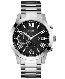 Men's Chronograph Stainless Steel Bracelet Watch 45mm U0668G3