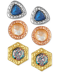RACHEL Rachel Roy 3-Pc. Set Stone Stud Earrings