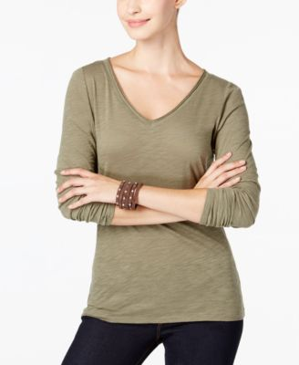 Image of INC International Concepts V-Neck Top, Only at Macy's