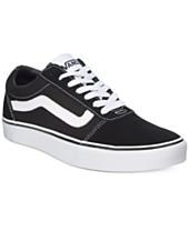Mens Black Leather Vans Shoes Macys