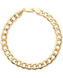 Men's Large Curb Link Bracelet in 10k Gold
