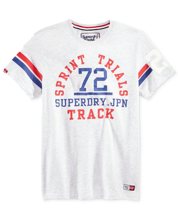 Superdry Men's Trackster Sprint Graphic-Print Logo T-Shirt