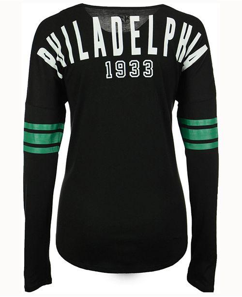 2a2a9bc2 '47 Brand Women's Philadelphia Eagles Courtside Long-Sleeve T ...