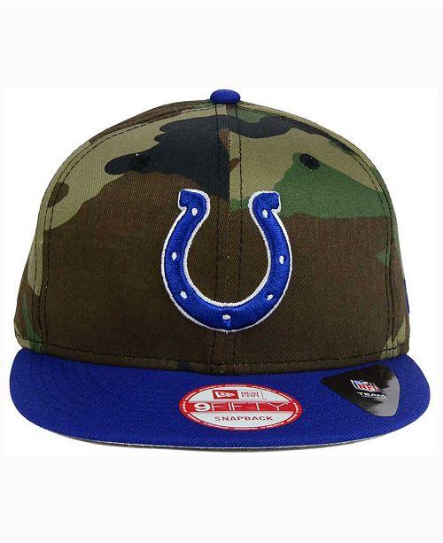 382cca0ab34d5 ... New Era Indianapolis Colts Camo Two Tone 9FIFTY Snapback Cap ...