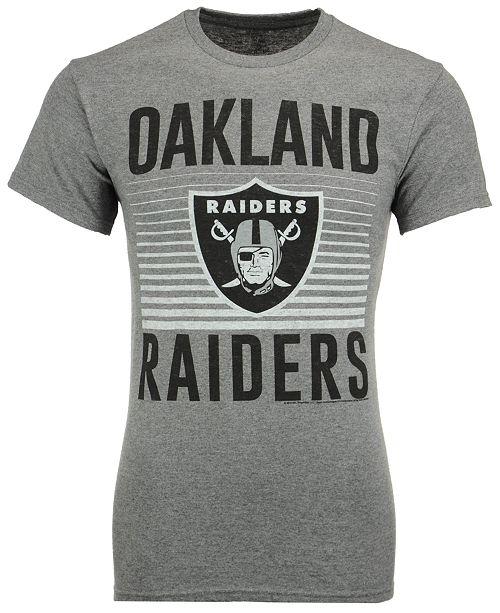 Authentic NFL Apparel Men's Oakland Raiders Block Shutter T-Shirt