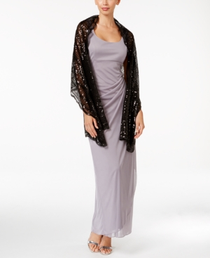 Image of Blue By Betsey Johnson Sequined Scallops Evening Wrap