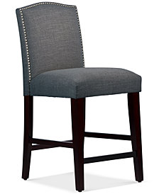 Callon Nail Button Arched Counter Stool, Quick Ship