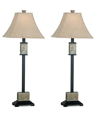 Kenroy Home Bennington 2-Pc. Table Lamp Set
