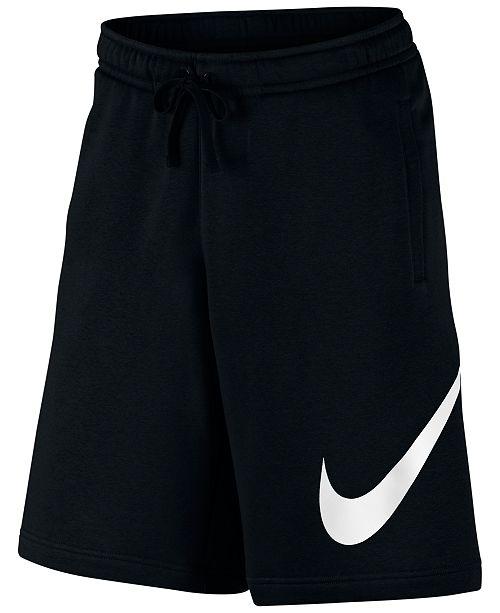 Nike Men s Club Fleece Sweat Shorts - Shorts - Men - Macy s c3f62fc02566