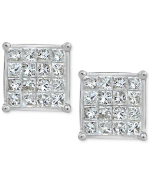 Diamond Quad Stud Earrings...