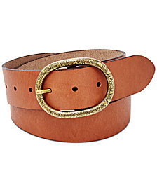 Fossil Vintage Oval Leather Belt