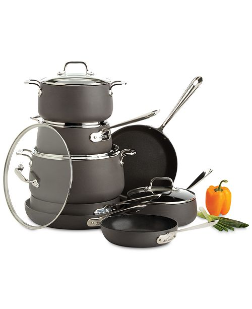 All Clad Hard Anodized 13 Pc Cookware Set Amp Reviews
