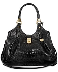 Elisa Melbourne Embossed Leather Hobo