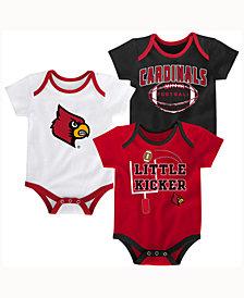 adidas Babies' Louisville Cardinals 3 Points 3-Piece Creeper Set