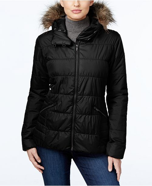 66071124e Columbia Sparks Lake Faux-Fur-Trim Thermal Coil Puffer Jacket ...