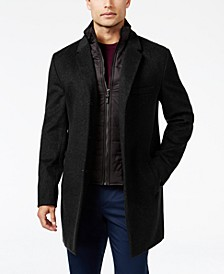 Men's Water-Resistant Overcoat with Zip-Out Liner