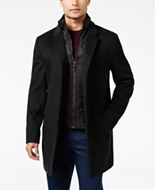 Michael Kors Men's Water-Resistant Overcoat with Zip-Out Liner