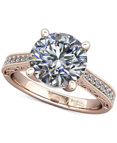 Diamond Enhanced Filigree Mount Setting (1/6 ct. t.w.) in 14k Rose Gold