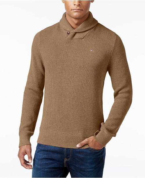 7bfffc71e48238 ... Tommy Hilfiger Men's Harrington Shawl-Collar Sweater, Created for  Macy's ...