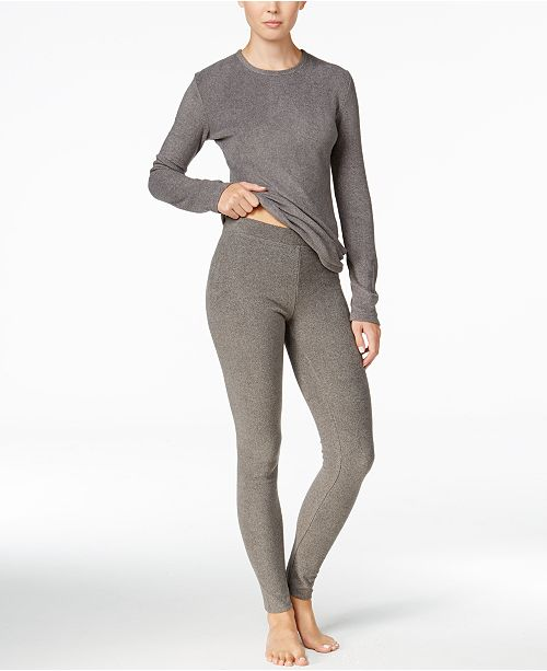 64e256423f312 Cuddl Duds Long Sleeve Fleecewear Top & Fleecewear Leggings ...