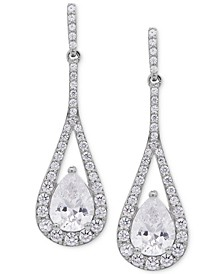 Swarovski Zirconia Teardrop and Pavé Drop Earrings in Sterling Silver