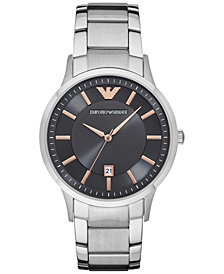 Emporio Armani Men's Stainless Steel Bracelet Watch 43mm AR2514