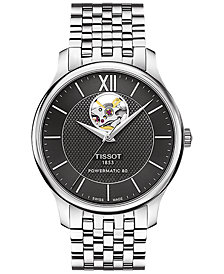 Tissot Men's Swiss Automatic Tradition Stainless Steel Bracelet Watch 40mm T0639071105800