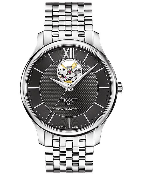 0d9d9a29761 ... Tissot Men s Swiss Automatic Tradition Stainless Steel Bracelet Watch  40mm T0639071105800 ...