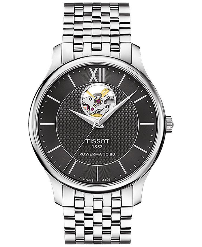 Tissot - Men's Swiss Automatic Tradition Stainless Steel Bracelet Watch 40mm T0639071105800