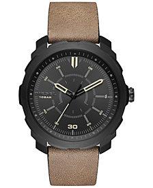 Diesel Men's Machinus NSBB Light Brown Leather Strap Watch 46mm DZ1788