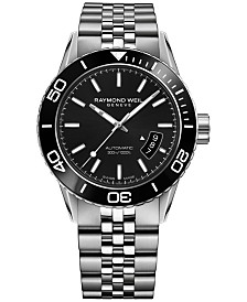RAYMOND WEIL Men's Swiss Automatic Freelancer Stainless Steel Bracelet Watch 43mm 2760-ST1-20001
