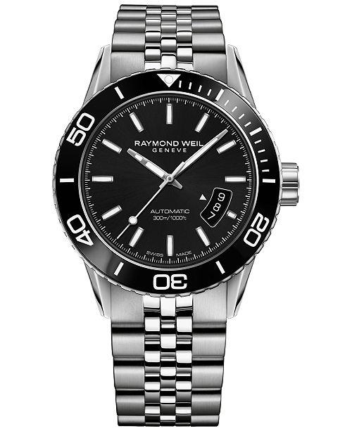 Raymond Weil Men's Swiss Automatic Freelancer Stainless Steel Bracelet Watch 43mm 2760-ST1-20001