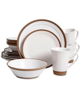 Gibson. Elite Brynn White 16-Piece Dinnerware Set. 1 reviews. main image; main image ...  sc 1 st  Macy\u0027s & Gibson Elite Brynn White 16-Piece Dinnerware Set - Dinnerware ...
