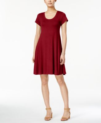 Image of Style & Co Short-Sleeve A-Line Dress, Only at Macy's