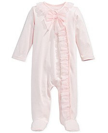 Baby Girls Footed Tulle Coverall, Created for Macy's