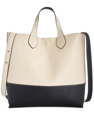 Image of Style & Co Clean Cut Reversible Crossbody Tote, Only at Macy's