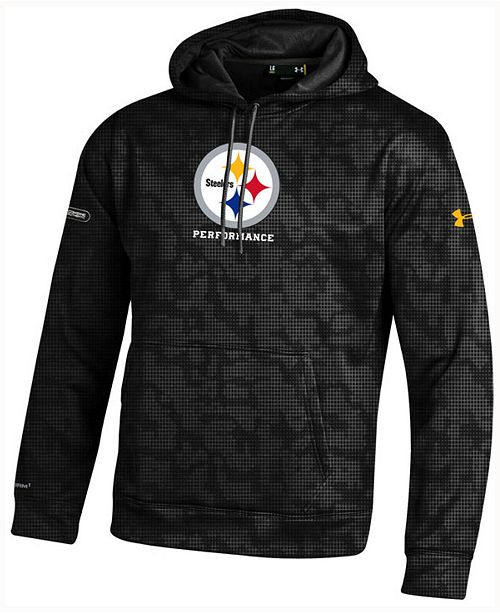 quality design 9e137 0531a Under Armour Men's Pittsburgh Steelers Fleece Novelty Hoodie ...