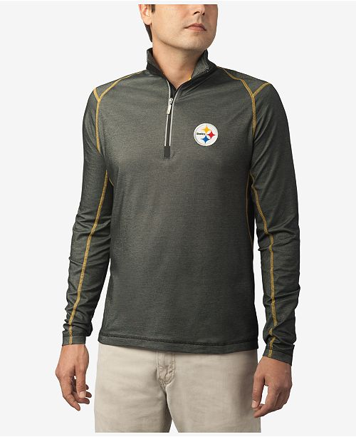 ... Tommy Bahama Men s Pittsburgh Steelers Double Eagle Half-Zip Sweater ... bb80ad9a8