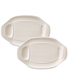 Villeroy & Boch BBQ Passion Collection 2-Pc. Barbecue/Grilled Vegetable Plate