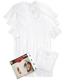 Polo Ralph Lauren Men's 3+1 Bonus Pack Crew-Neck Undershirts